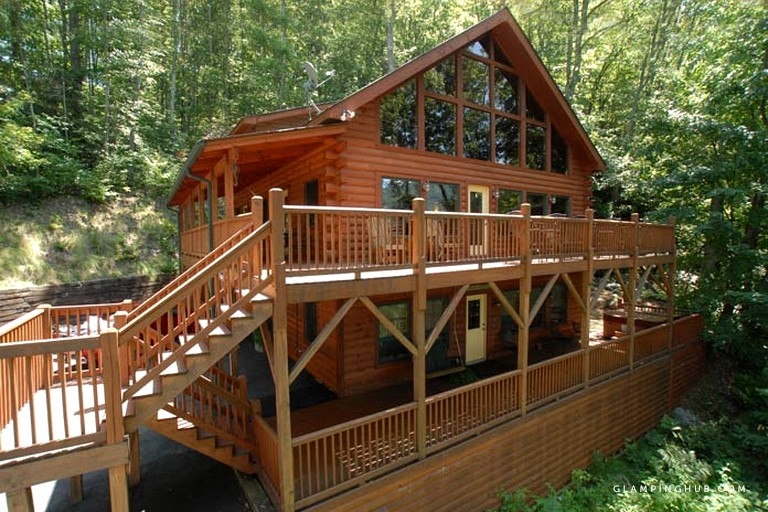 luxury three story cabin rental for large groups near great smoky mountains national park Cabins In Smoky Mountain National Park