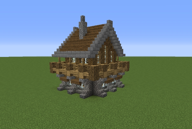 medieval rustic log cabin 1 grabcraft your number one Minecraft Cabin House