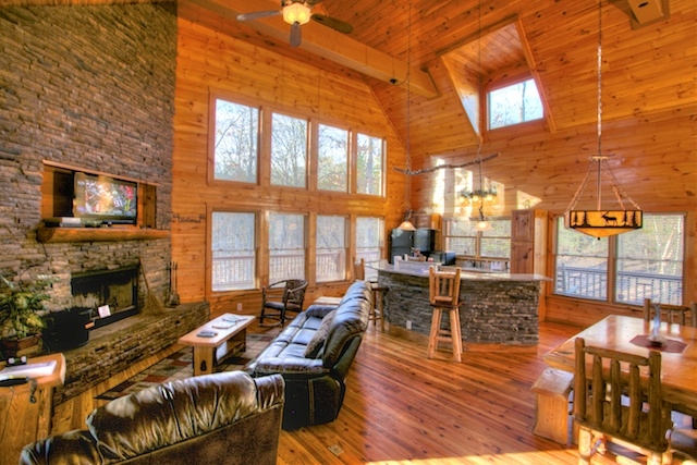 meet the owners of whispering pines steve and carrie hartshorne Ruby Falls Cabins