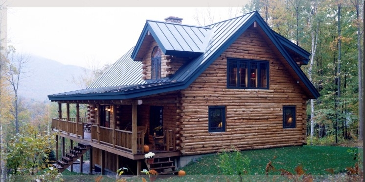 michigan log cabin home design builder staining restoration Log Cabin Builders Indiana
