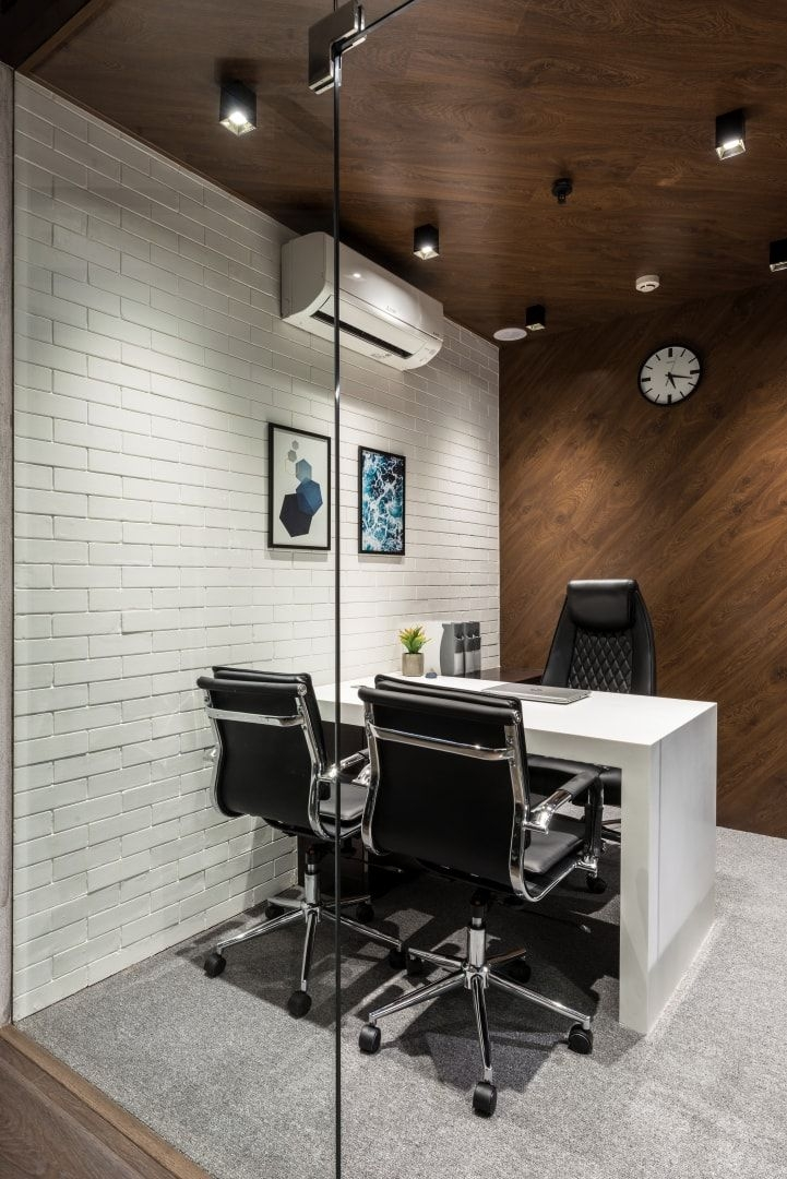 office design is bold and spirited composition office Small Office Cabin