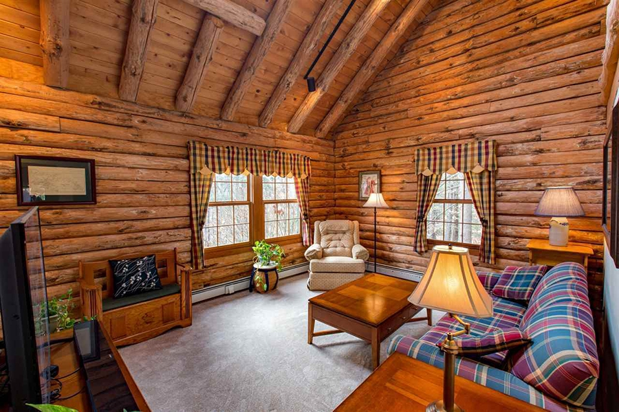 on the market a log cabin in new hampshire Cabins New Hampshire