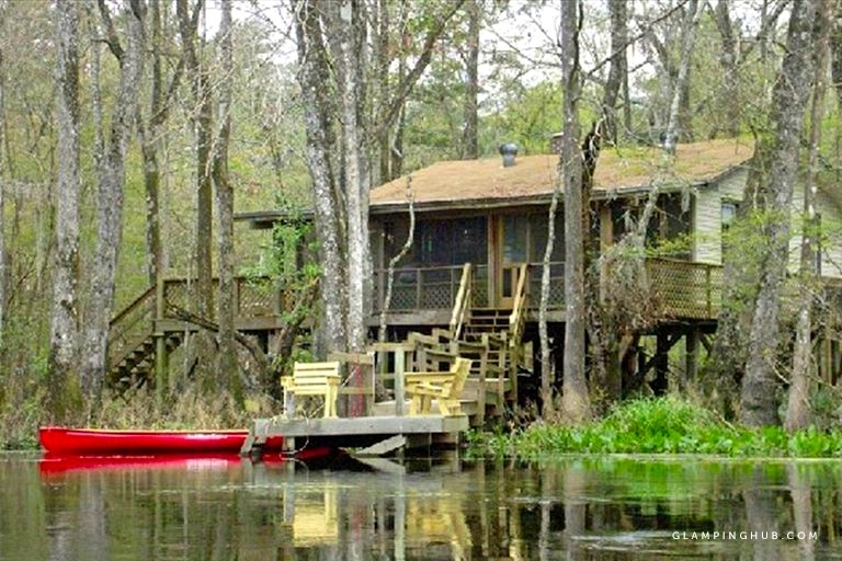 peaceful pet friendly cabin rental on st marks river near tallahassee florida Pet Friendly Cabins In Florida