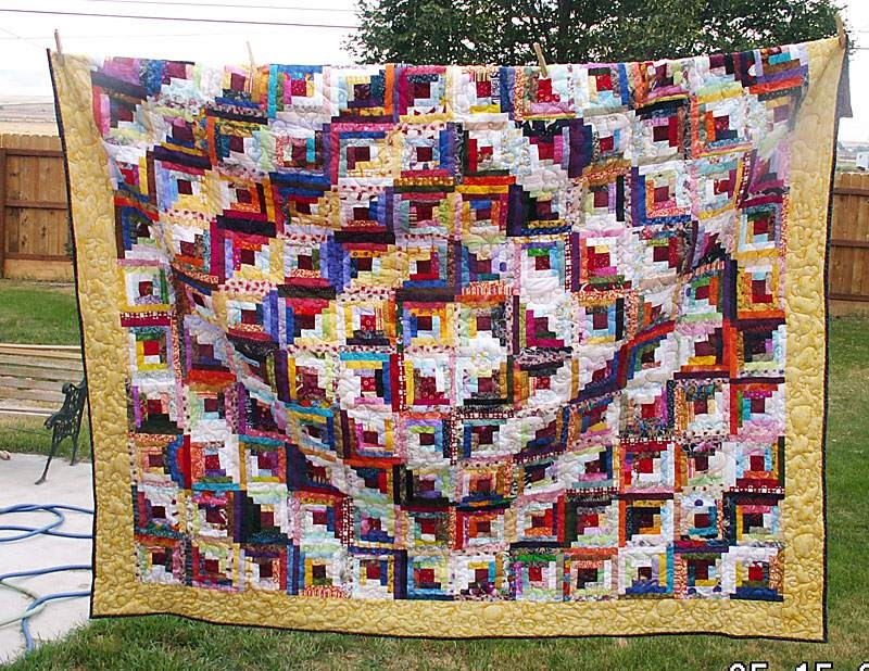 Permalink to 10 Examples Of Log Cabin Quilts Ideas