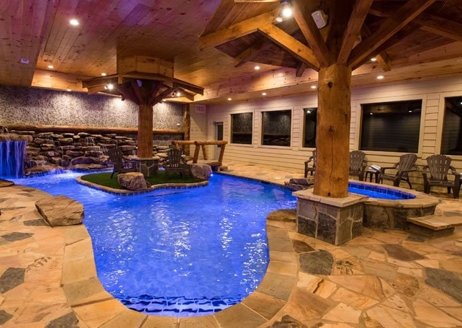 pigeon forge cabins eagle river lodge Gatlinburg Cabins With Pool
