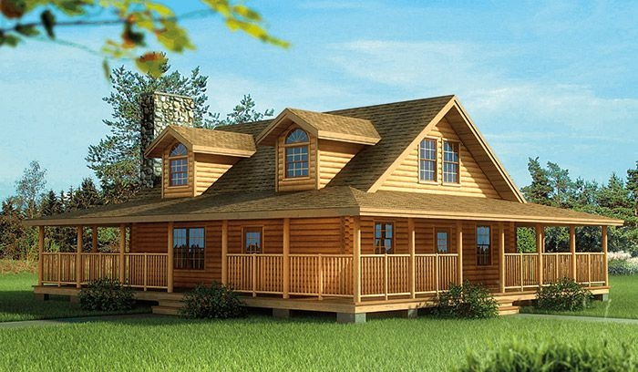 pin on cabin Log Cabin Plans With Wrap Around Porch