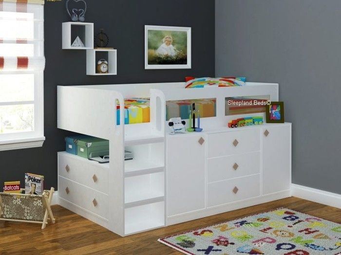 pin on kids in small shared bedrooms Kids Cabin Beds With Storage