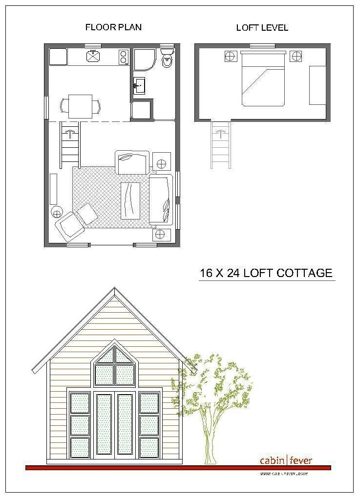 pin on living large in a tiny space 16x24 Cabin Plans With Loft