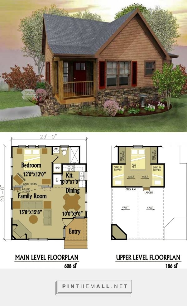 pin on tiny house love Small Two Story Cabin Plans
