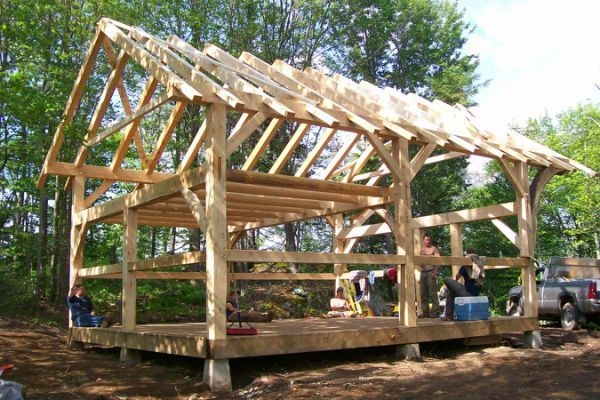 post and beam cabin plans redwood timber home in 2019 Small Post And Beam Cabins