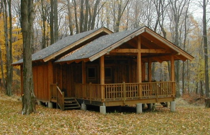 post and beam construction building with wood Post And Beam Cabin