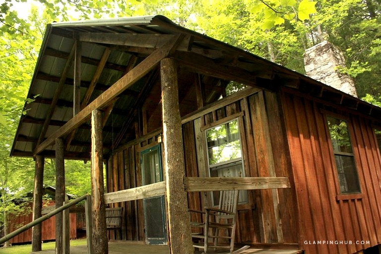 quiet and secluded cabin rental with views of pisgah national forest on french broad river north carolina Pisgah National Forest Cabins