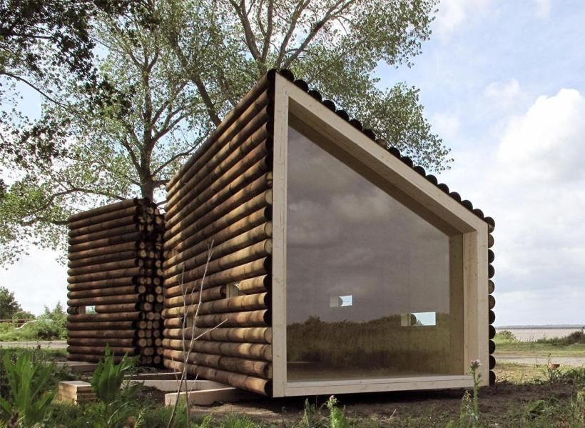 relaxshacks thirteen tiny dream log cabins and a Small Modern Log Cabin