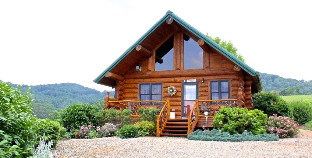 romantic log cabinviews 2110 min avl fpwifi bk wk 1 nt free leicester Cabin In Asheville Nc