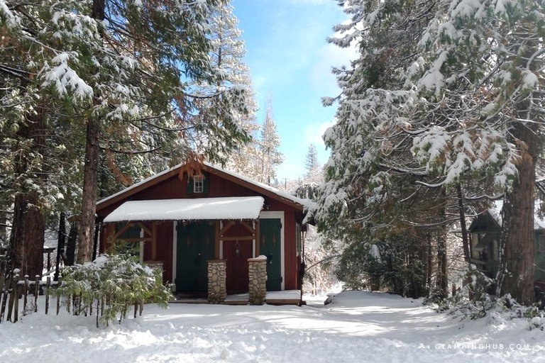 rustic cabin nestled on the outskirts of the sequoia national forest california Sequoia National Forest Cabins