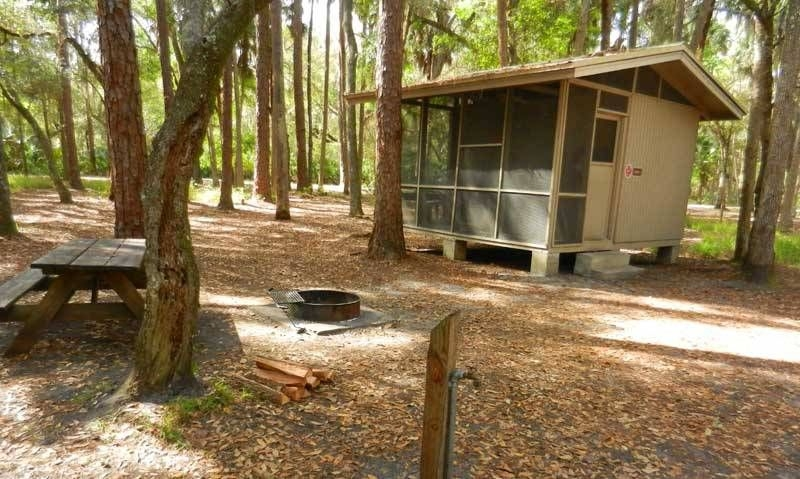rustic cabins at hontoon state park provide a more camping Camping Cabins Florida