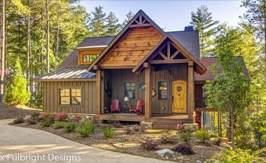 rustic cottage house plans max fulbright designs Adirondack Cabin Plans