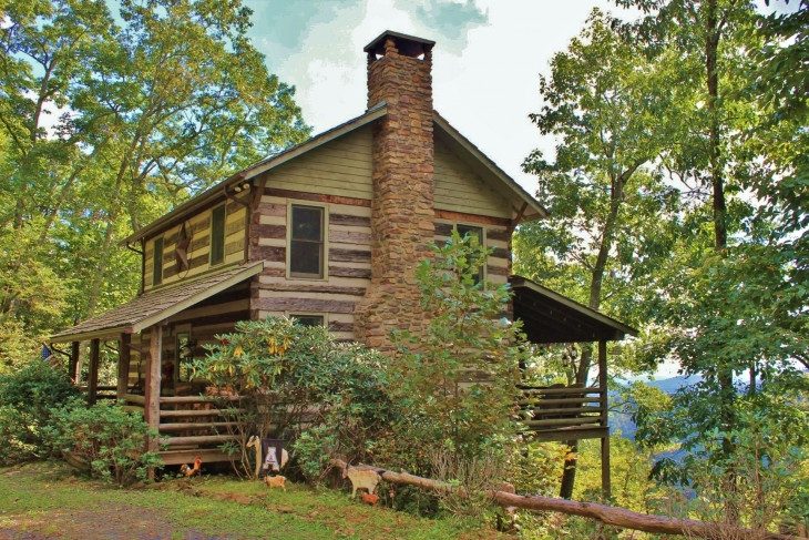 rustic nc mountain log cabin Unfinished Log Cabins For Sale In Nc