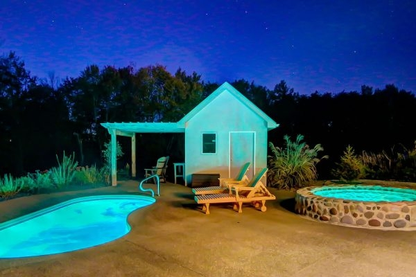 scenic luxury cabin in hocking hills observatory cherry Hocking Hills Cabin With Pool