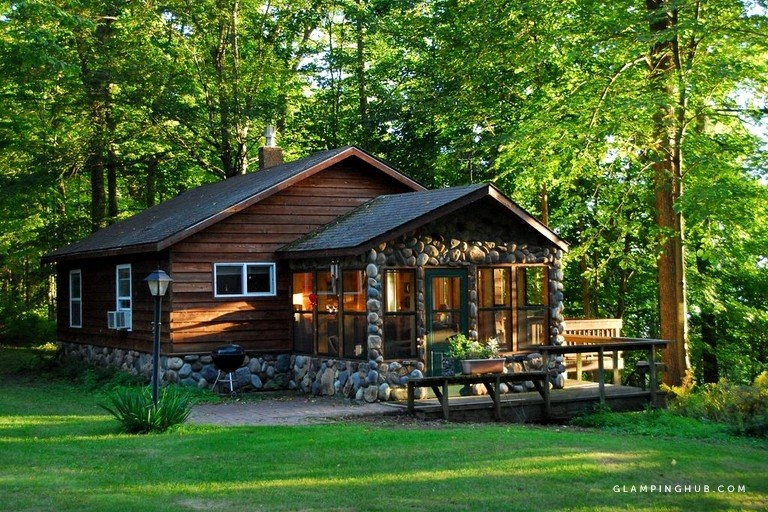 secluded camping cabin near flambeau river state forest wisconsin Cabin Camping In Wisconsin