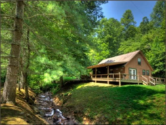 secluded creekside cabin in smoky mountains near bryson city Secluded Cabins In Nc