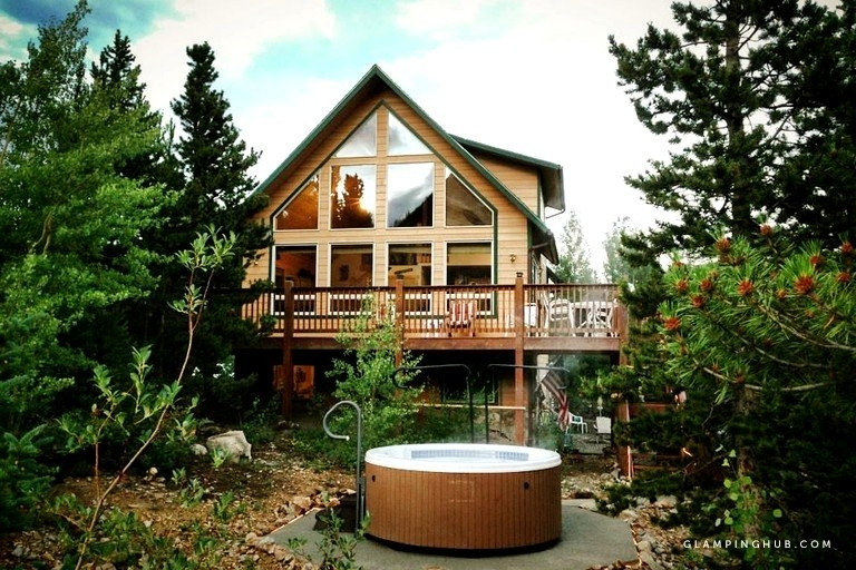 secluded family cabin with a hot tub in the rocky mountains near denver colorado Cabins In Colorado Mountains