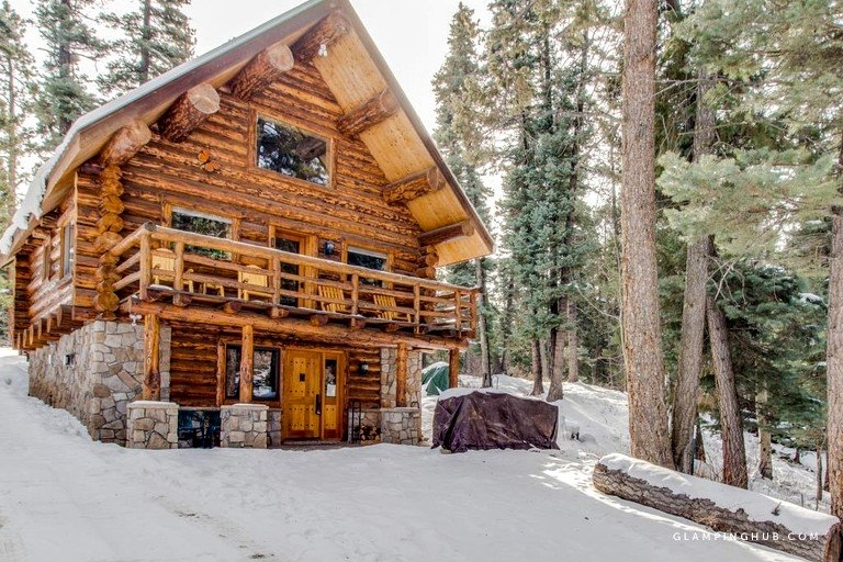 secluded log cabin with a private hot tub in the rockies of durango colorado Durango Co Cabins