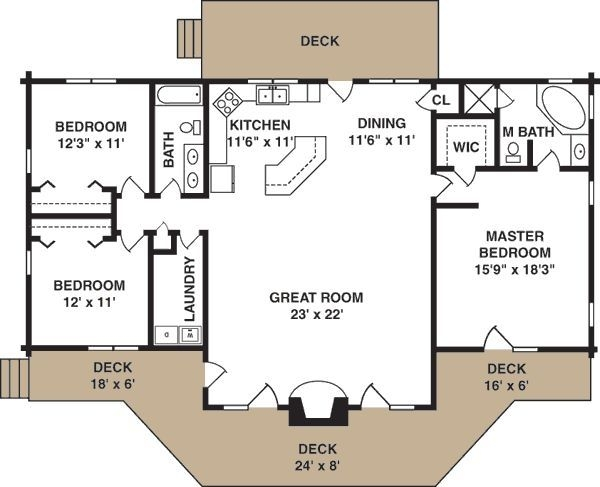 simple cottage plan myohodane cottage plan floor plans Simple Cabin Floor Plans