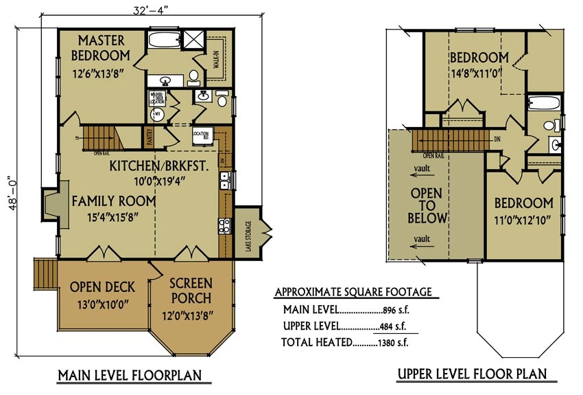 small cabin floor plan 3 bedroom cabin max fulbright Lake Cabin Floor Plans