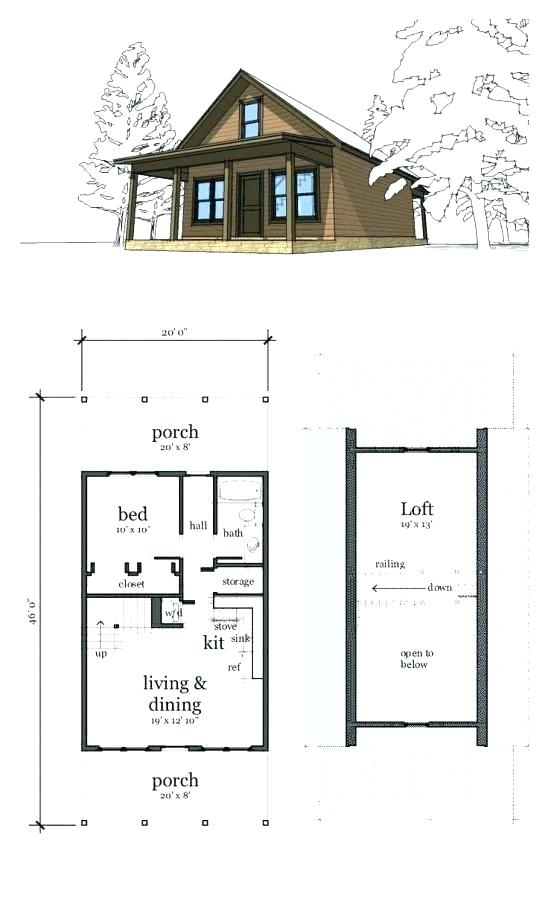 small cabin floor plans 24×24 Cabin Floor Plans With Loft