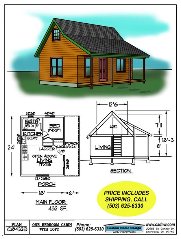 small cabin floor plans c0432b cabin plan details tiny Small Cabin Design