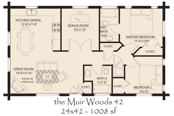 small log cabin floor plans country cottage floor plans Simple Cabin Floor Plans