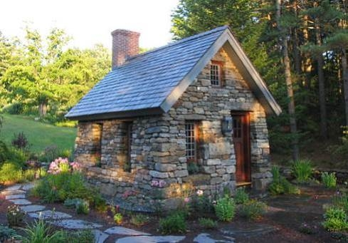 small stone cottages truly timeless Stone Cabin Plans