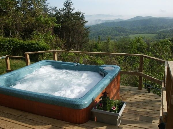 spectacular views swimming pool hot tub real log fires mountain getaway luray Cabin With Hot Tub