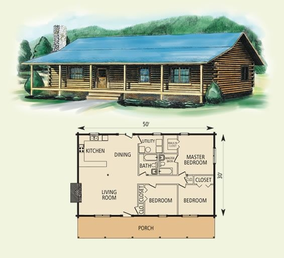springfield log home and log cabin floor plan cabin log home Wood Cabin House Plan
