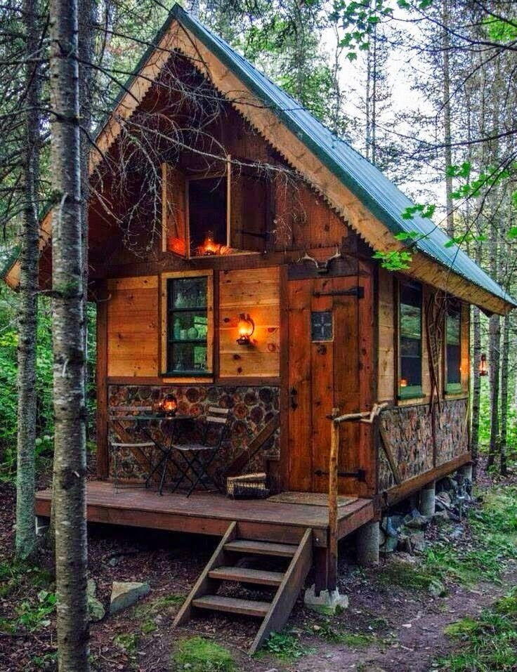 stacked log example pic only cabin in 2019 tiny house Small Wooden Cabin