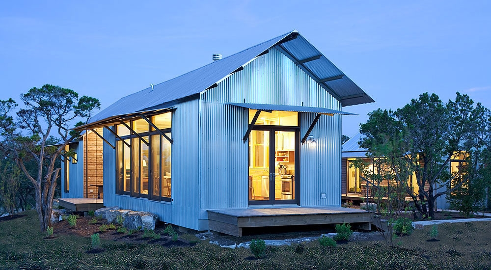 texas architecture firm designs prefab leed certified homes Modular Cabins Texas