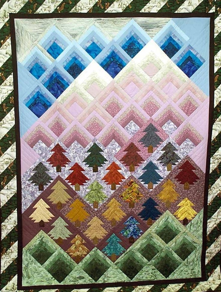 the 25 best log cabin quilt pattern ideas on pinterest log Quilt Log Cabin Pinterest