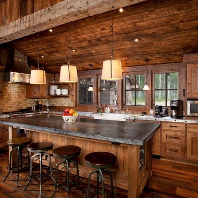 traditional kitchen log cabin design ideas pictures Small Log Cabin Kitchens