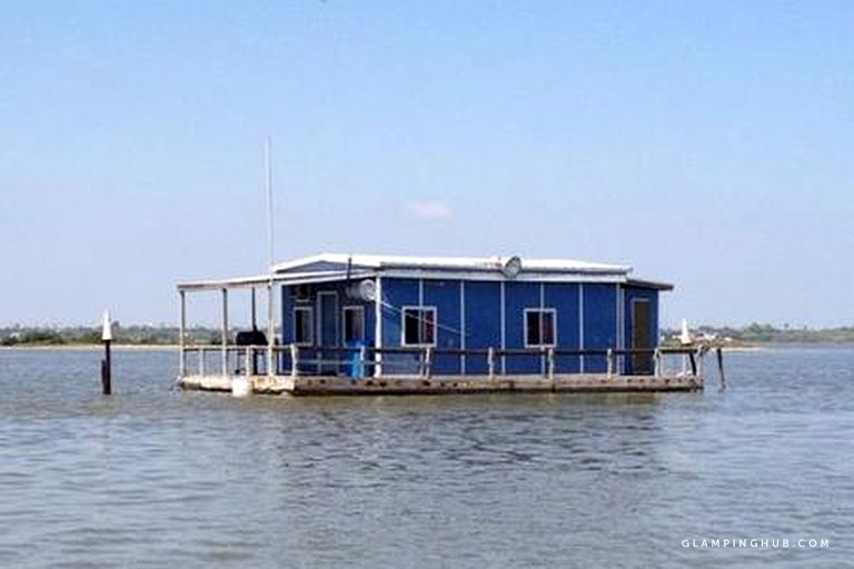 unique floating cabin perfect for fishing trips in corpus christi texas Floating Cabins Texas
