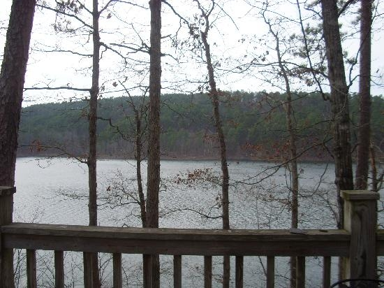 view from deck cabin 6 picture of lake ouachita state park Lake Ouachita State Park Cabins