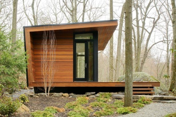 warm woodsy modern cabins from architizer architecture Small Contemporary Cabins