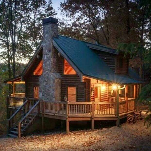 well this looks pretty perfect rustic living log home Small Wooden Cabin