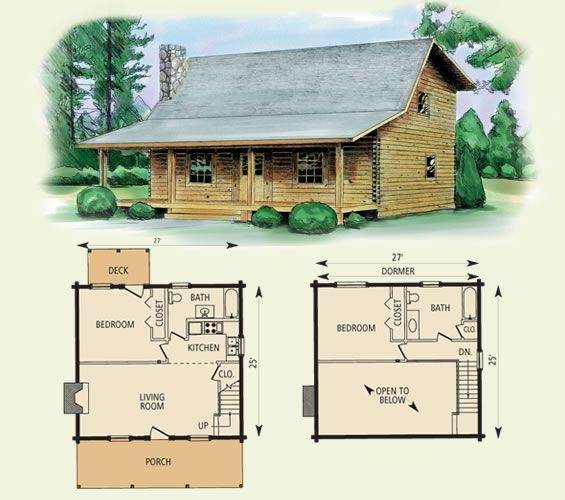 wilderness log home and log cabin floor plan in 2019 log Small Cabin With Loft Floor Plans