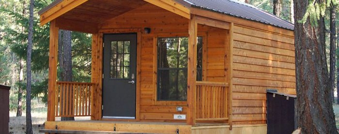 you can camp at burney falls in northern california Burney Falls Cabin