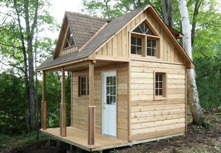 1212 cottage cabin with loft and shed dormer tiny house 200 Sq Ft Cabin Kits