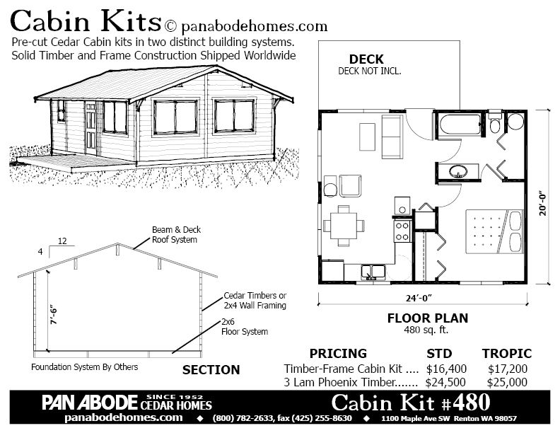 480 sq ft cabin kit for 16400 pan abode camp or guest 200 Sq Ft Cabin Kits
