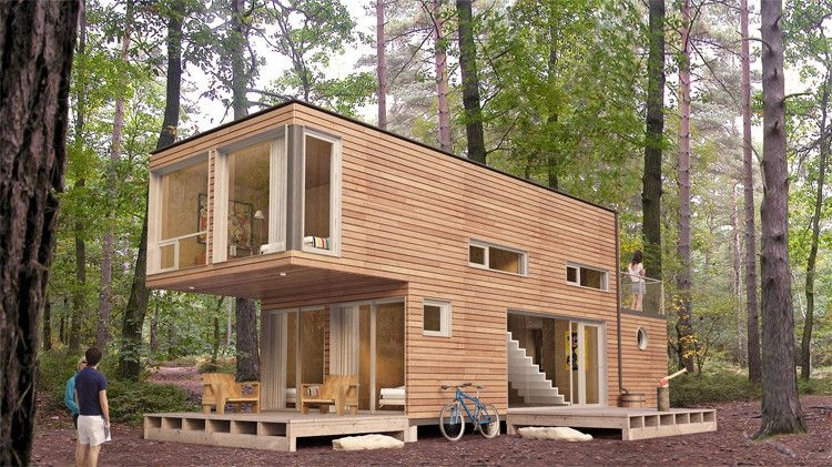 a used shipping container cast about 2k after that its up Shipping Container Cabin