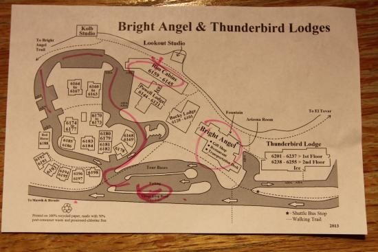 bright angel cabin map picture of bright angel lodge Bright Angel Lodge Cabins
