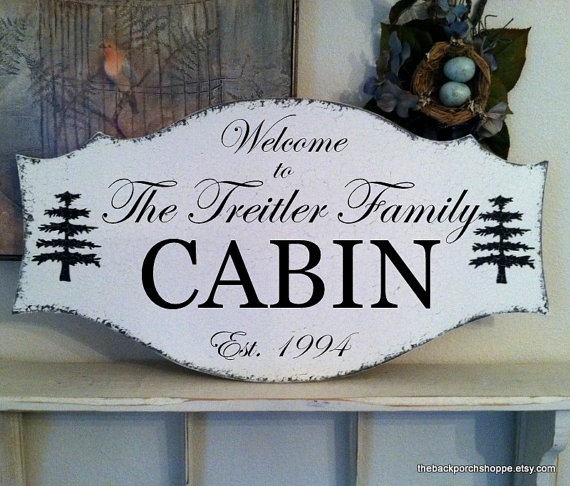 family cabin sign custom signs personalized Cabin Sign Ideas